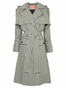 Maggie Marilyn gingham trench coat - Black
