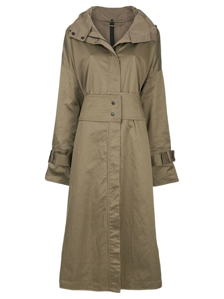 Taylor zipped trench coat - Green