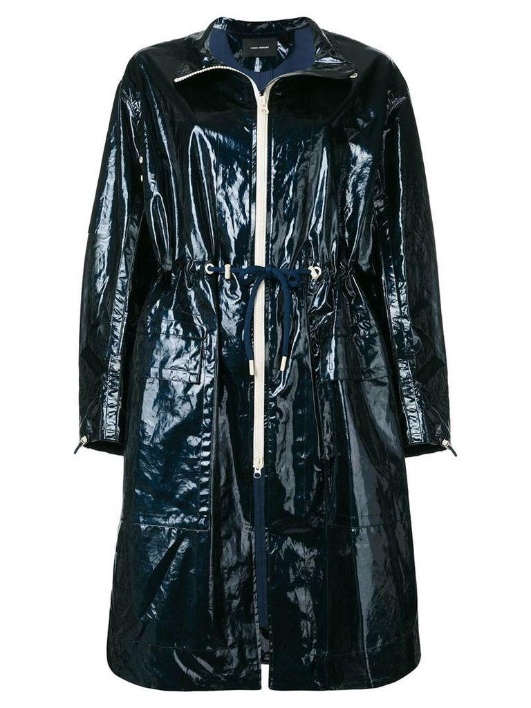 Isabel Marant drawstring waisted raincoat - Blue