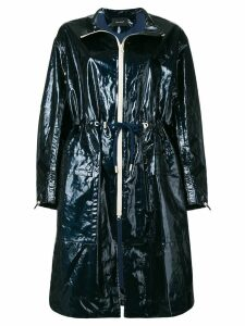 Isabel Marant drawstring waisted raincoat - Blue