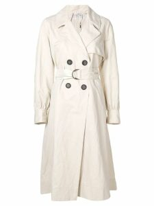 Forte Forte balloon sleeve trench coat - Neutrals
