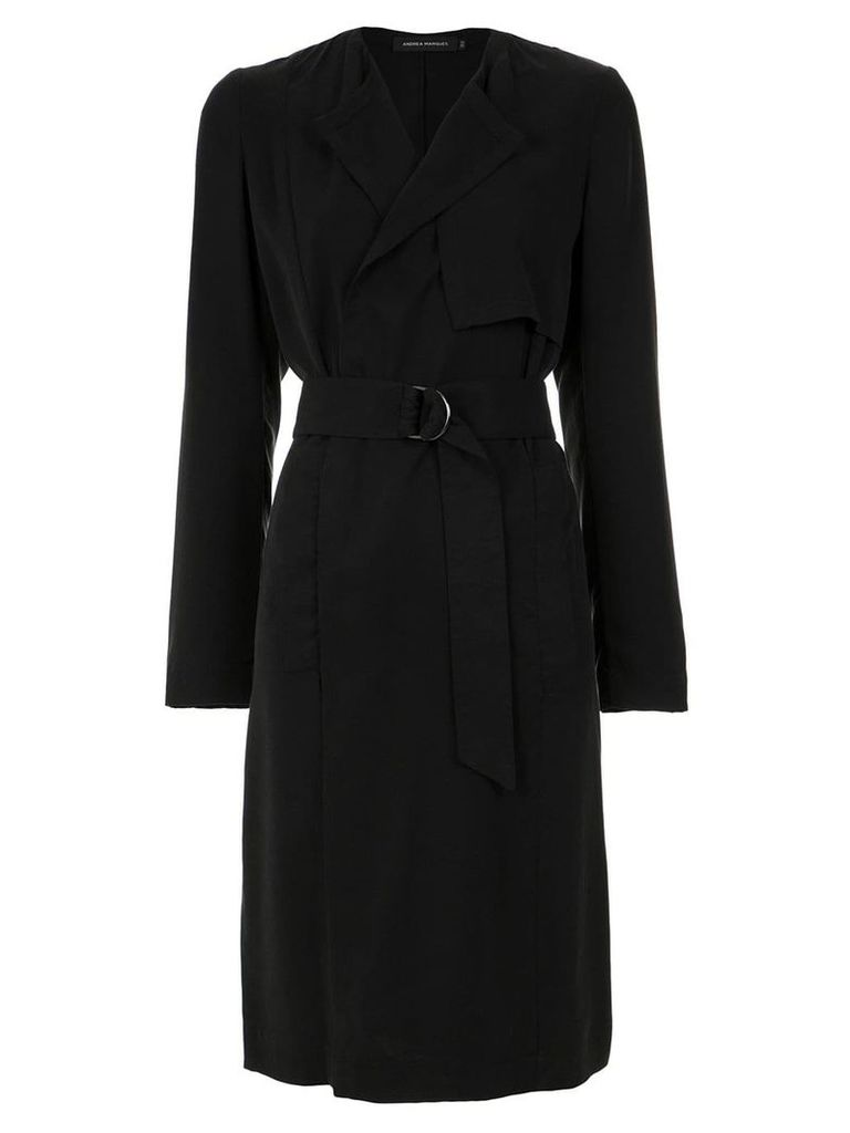 Andrea Marques belted trenchcoat - Preto