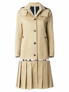 Thom Browne Low-slung Pleated Mackintosh Overcoat - Neutrals