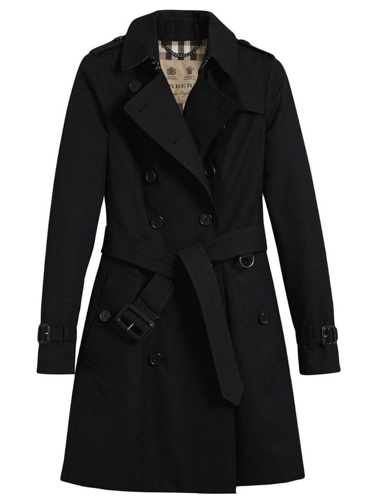 Burberry The Chelsea mid-length trench coat - Black
