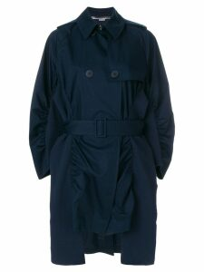 Stella McCartney ruched trench coat - Blue