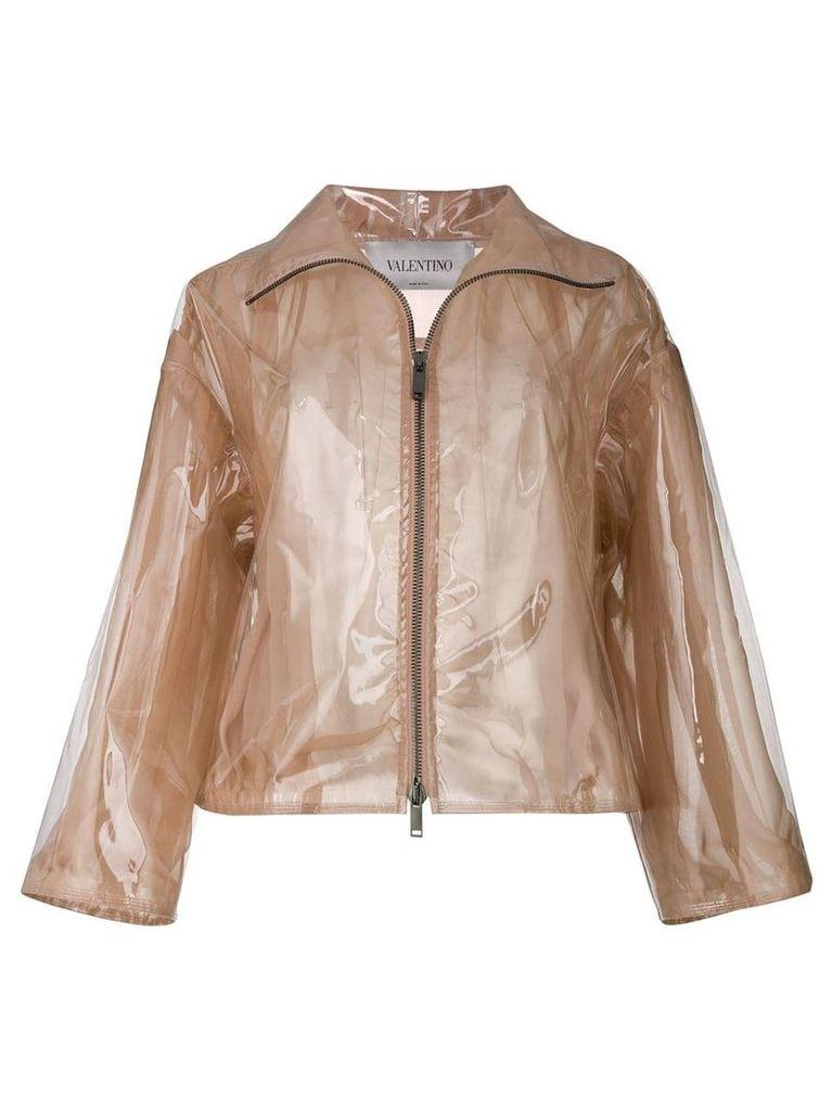 Valentino transparent rain coat - Neutrals