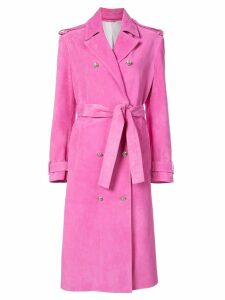 Calvin Klein 205W39nyc suede trench coat - Pink