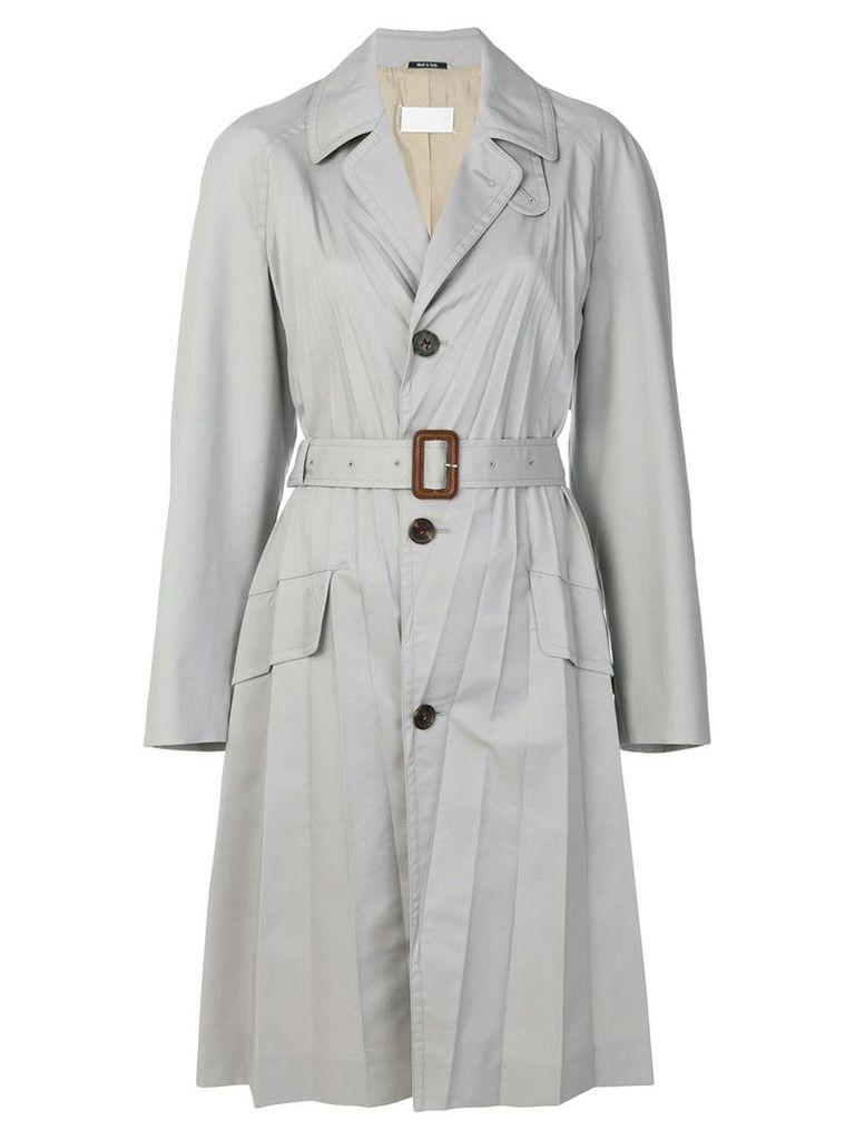 Maison Margiela plisse soleil coat - Grey