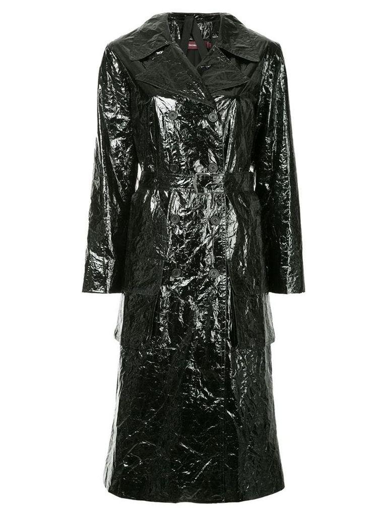 Sies Marjan Bessie fitted trench coat - Black