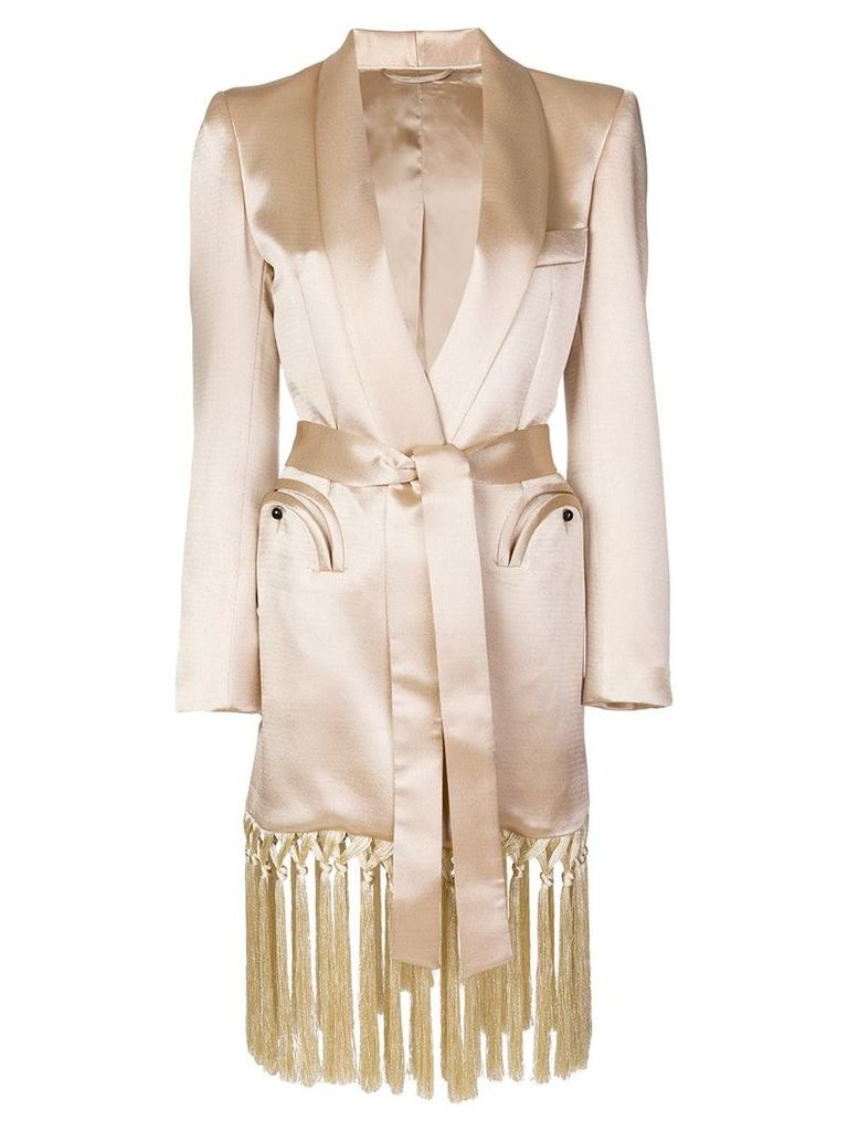 Blazé Milano fringed trench coat - Neutrals