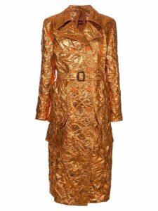 Sies Marjan creased metallic trench coat - Yellow