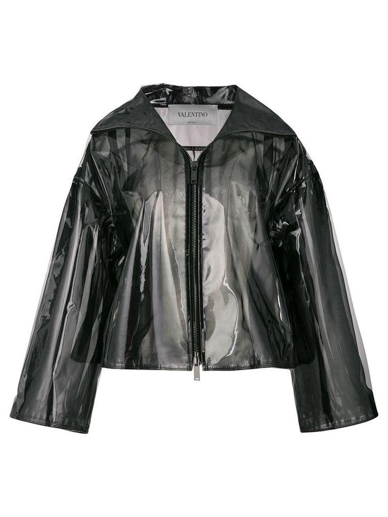 Valentino transparent rain coat - Black