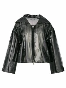 Valentino transparent rain coat - Black