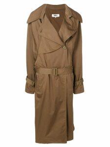 Mm6 Maison Margiela long sleeved trench coat - Brown