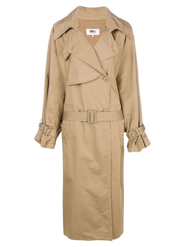 Mm6 Maison Margiela oversized trench coat - Neutrals