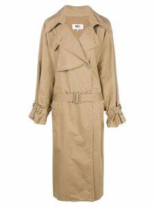 Mm6 Maison Margiela oversized trench coat - Neutrals