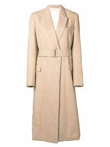 Victoria Beckham waisted trench coat - NEUTRALS