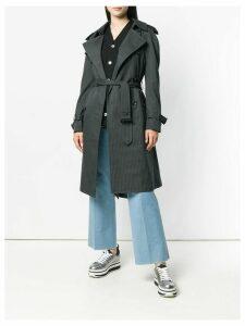 Junya Watanabe pinstripe trench coat - Grey