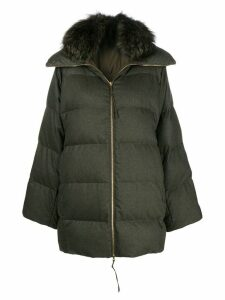 Agnona puffer coat - Green