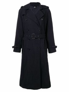 Aspesi double breasted trench coat - Blue