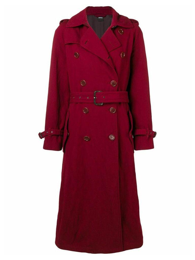 Aspesi boxy trench coat - Red