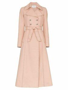 Giambattista Valli Belted Cotton-Blend Trench Coat - Pink
