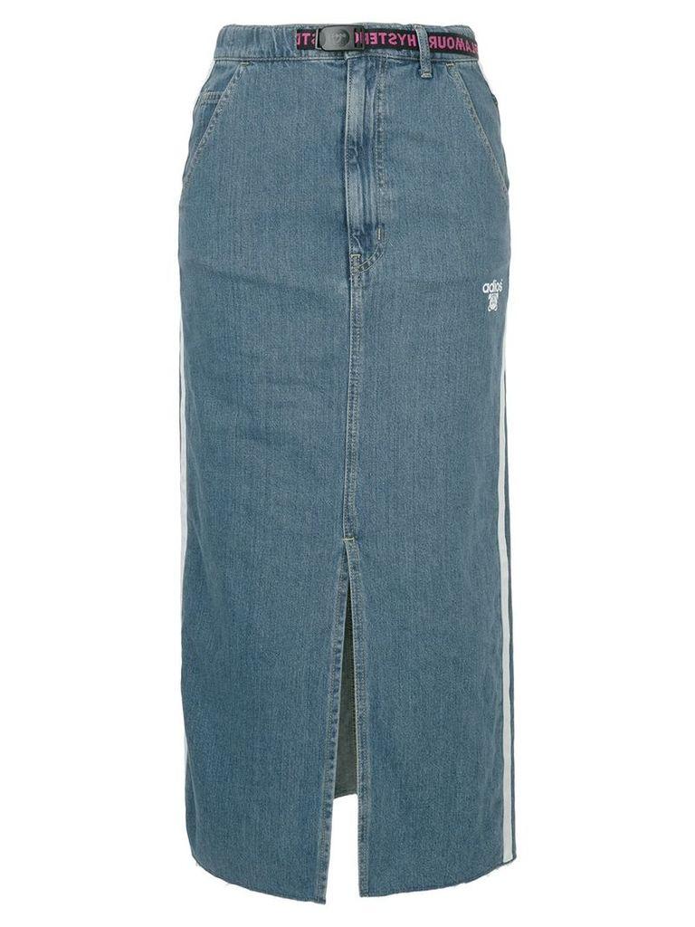 Hysteric Glamour Adios front slit denim skirt - Blue