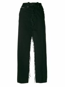 Unravel Project double slits denim skirt - Black