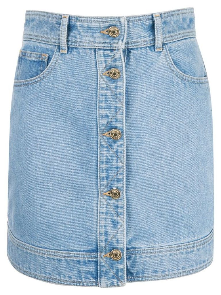 Hilfiger Collection quilted panel denim skirt - Blue