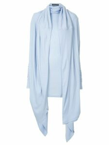 Y/Project neck draped dress - Blue