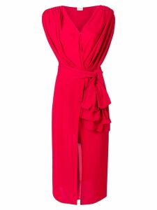 Magda Butrym draped asymmetric dress - Red