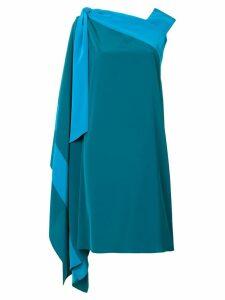 Gianluca Capannolo draped side dress - Blue