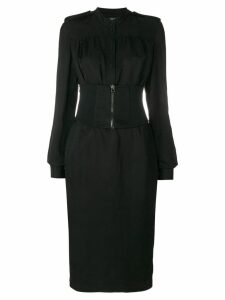 Tom Ford corset waist midi dress - Black
