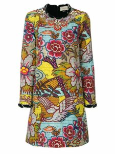 Gucci embellished floral print dress - Multicolour