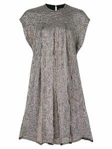 Isabel Marant mirror embellished shift dress - Metallic