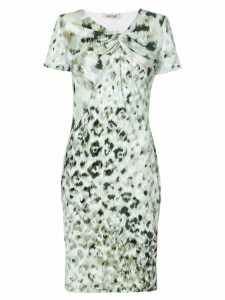 Roberto Cavalli print fitted shift dress - Green