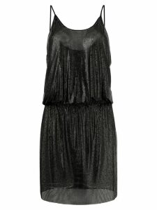 Paco Rabanne fitted vest dress - Black