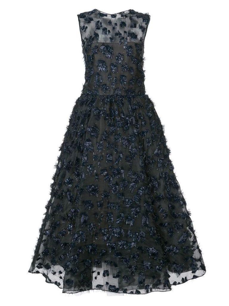 Oscar de la Renta embellished sleeveless midi dress - Black
