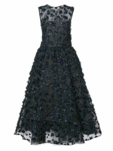 Oscar de la Renta embellished sleeveless midi dress - Black