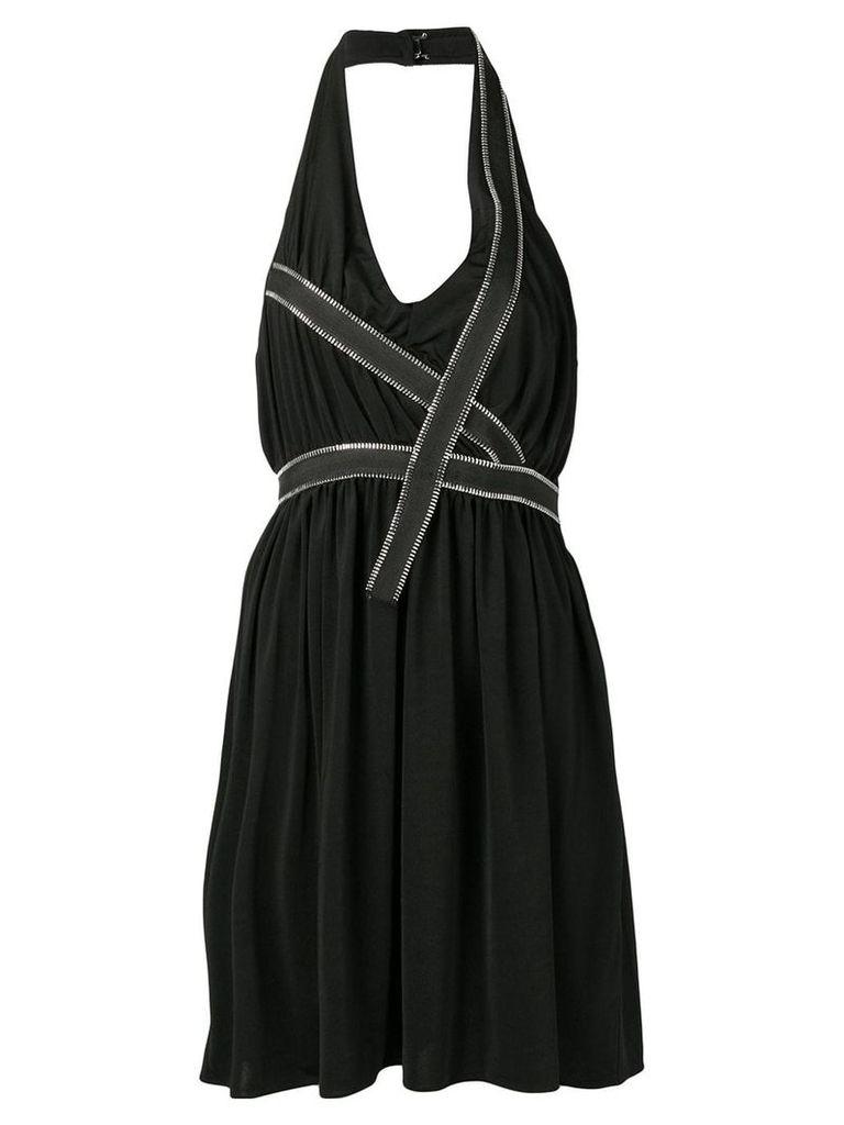 Each X Other zip trim halter dress - Black