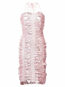 Neith Nyer ruched bodycon midi dress - PINK