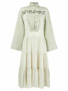 Chloé Victorian high neck dress - Neutrals