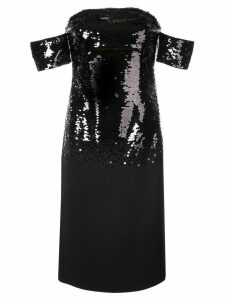 Sachin & Babi Galiana sequin fitted dress - Black