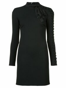 Red Valentino buttoned-sleeve mini dress - Black
