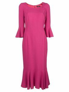 Dolce & Gabbana frill-trim midi dress - Pink