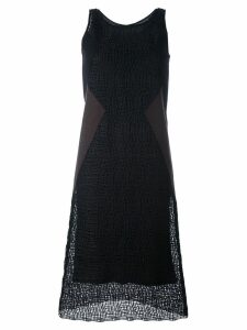 Neil Barrett textured shift dress - Black