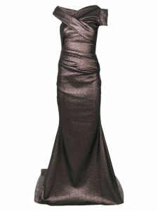 Talbot Runhof moa dress - Brown