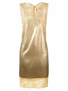 Stella McCartney lace insert shift dress - Yellow