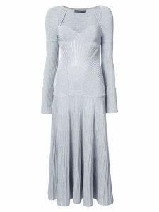 Alexander McQueen long knit dress - Grey
