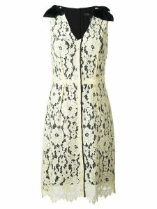 Marc Jacobs floral lace midi dress - Yellow